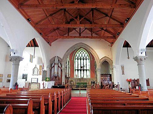 Interior of Holy Trinity Church Portrush