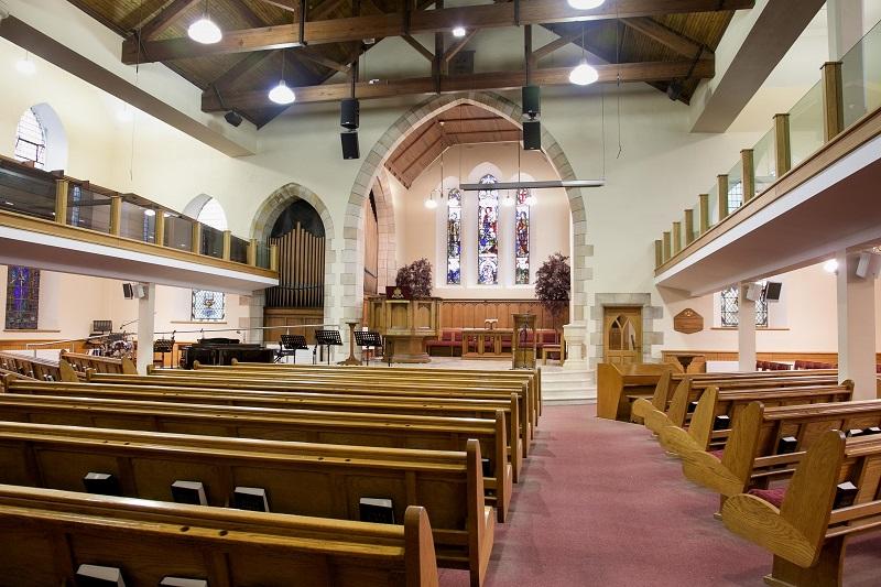 Interior of Portrush Presbyterian Church
