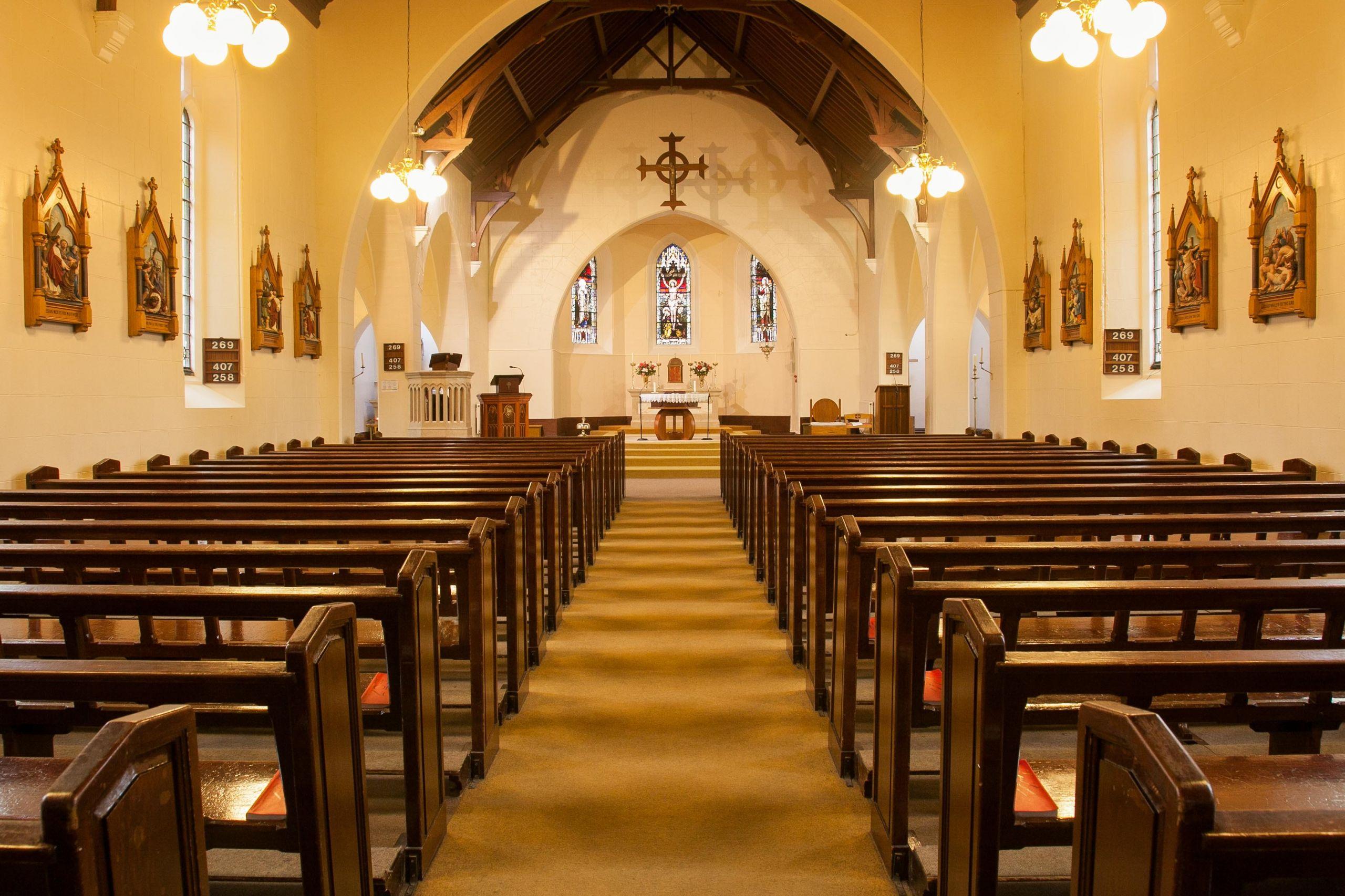 Interior of St Patricks Church in Portrush