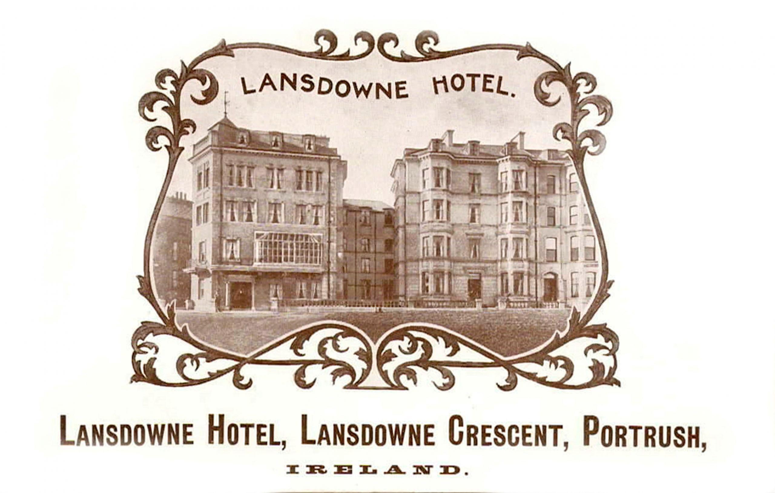 Lansdowne Hotel Advert