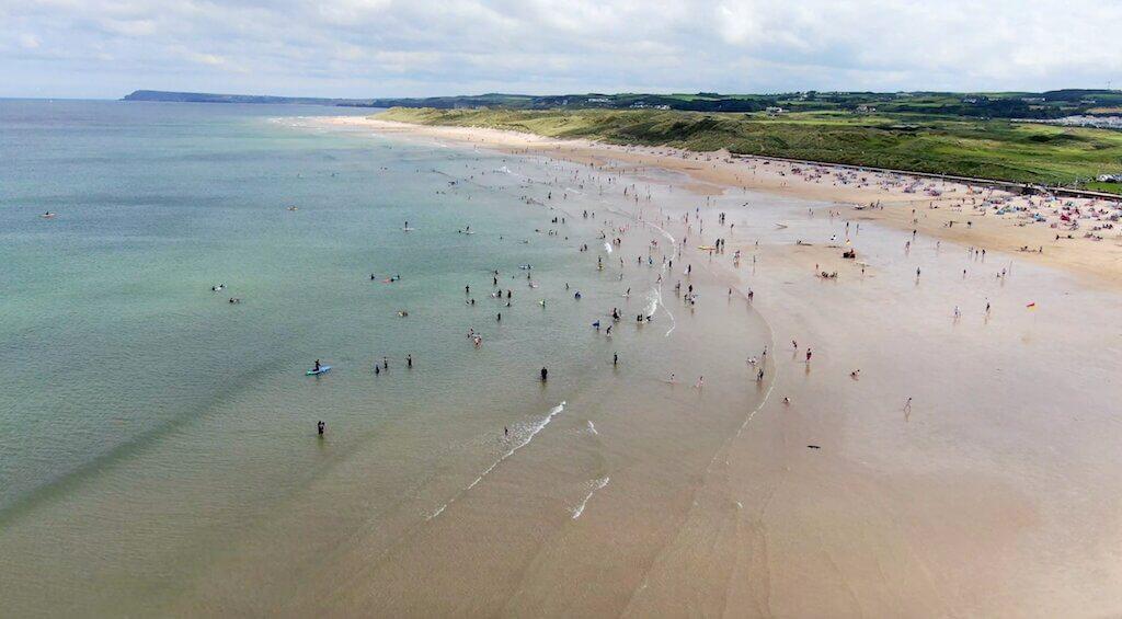 East Strand Beach - Aerial View
