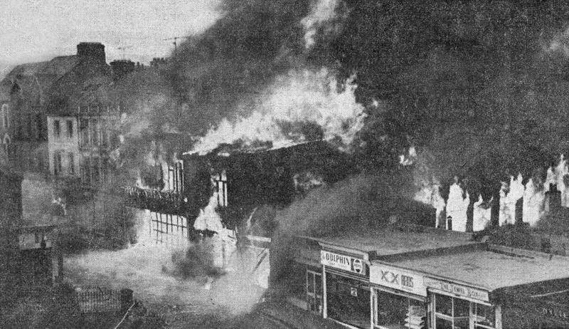 Fire at Sportsland & L'Atelier 1976