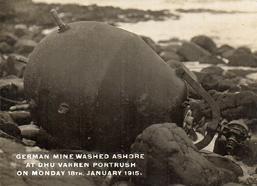 German mine washed ashore at Dhu Varren