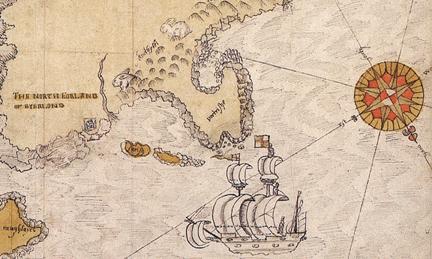 Skerries Road (1580 Map)