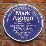 Mark Ashton - Blue Plaque