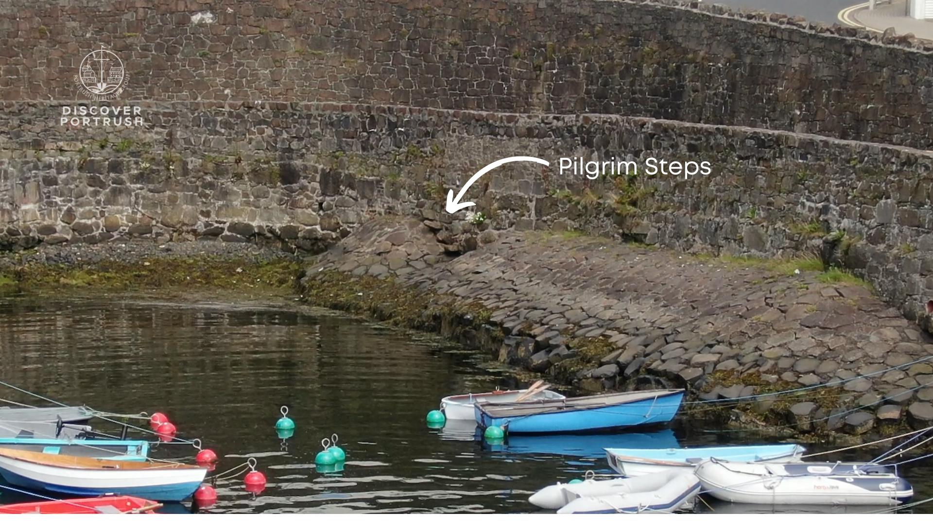 The Pilgrim Steps, Old Dock, Portrush